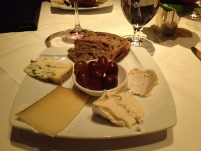Cheese Selections from Cart at Gary Danko