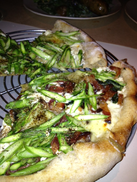 Asparagus and Bacon Pizza