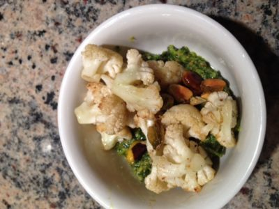 Cauliflower with Pistachio Pesto