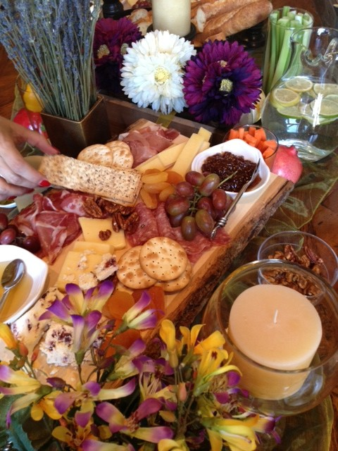 Charcuterie with Holiday Accents